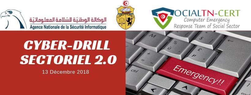la 2ème édition du hashtag Cyberdrill Sectoriel en coopération