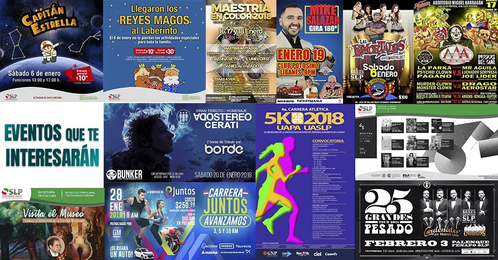 Eventos en San Luis Potosí, Agenda 2018