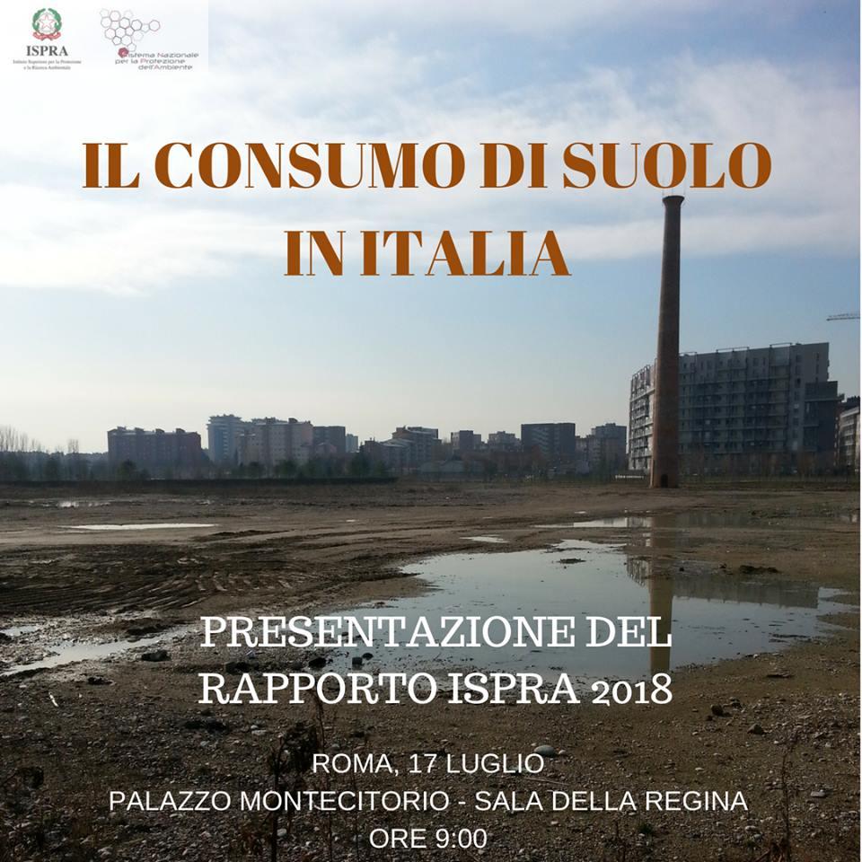 Consumo di suolo-Rapporto Ispra 2018