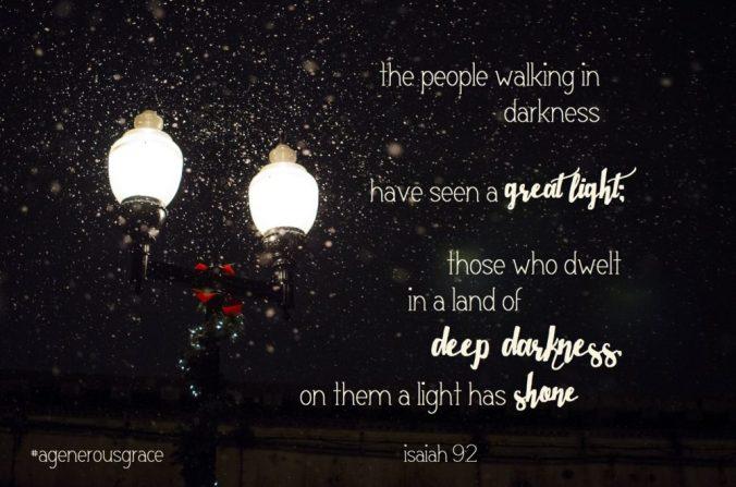 people walking in darkness