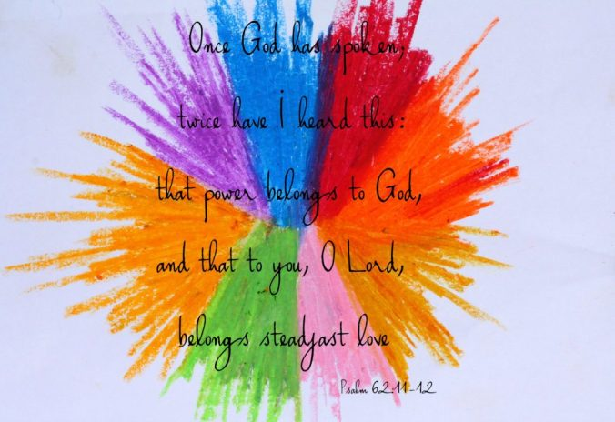 free printable Scripture art Psalm 62:11-12