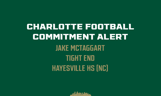 North Carolina Tight End Jake McTaggart commits to Charlotte