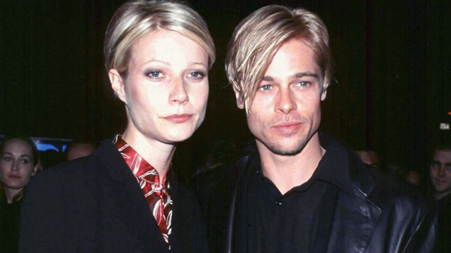 "Actor Brad Pitt and his girlfriend, actress Gwyneth Paltrow, at the New York premiere of Pitt's new film ""The Devil's Own"" March 13. The film is a Capitol-TriStar Pictures release. ** POOR QUALITY FROM SOURCE ** - RTXHMIZ"