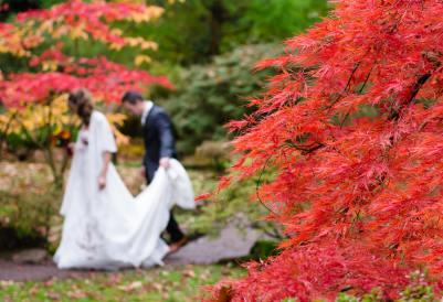 Podzimní svatba mezi listy