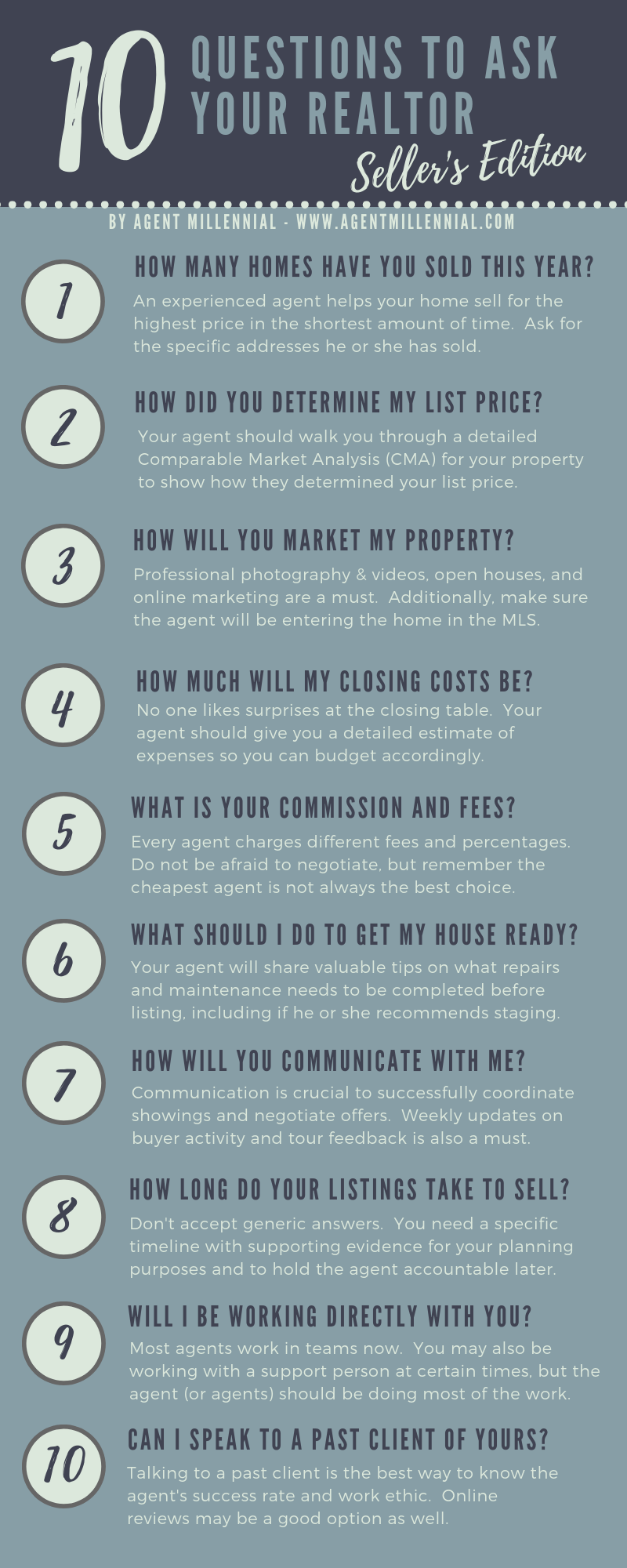 Seller S Edition 10 Questions To Ask When Selecting A Listing Agent Laura Garcia Realtor