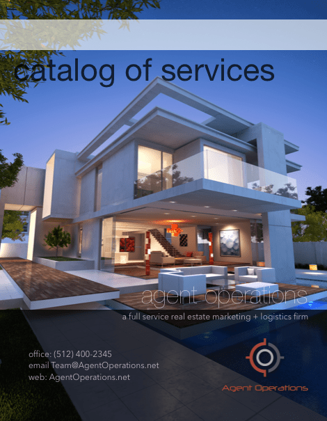 Agent Operations Catalog - a full-service real estate marketing and logistics firm