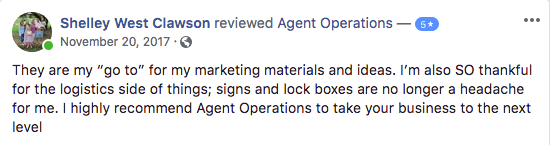 agent operations 5 star review