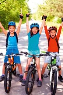 Initiative BIKEline: Gemeinsam mit dem Rad zur Schule – die Schüler der Öko-Schule Kaindorf. © BIKEline – Öko-Hauptschule Kaindorf