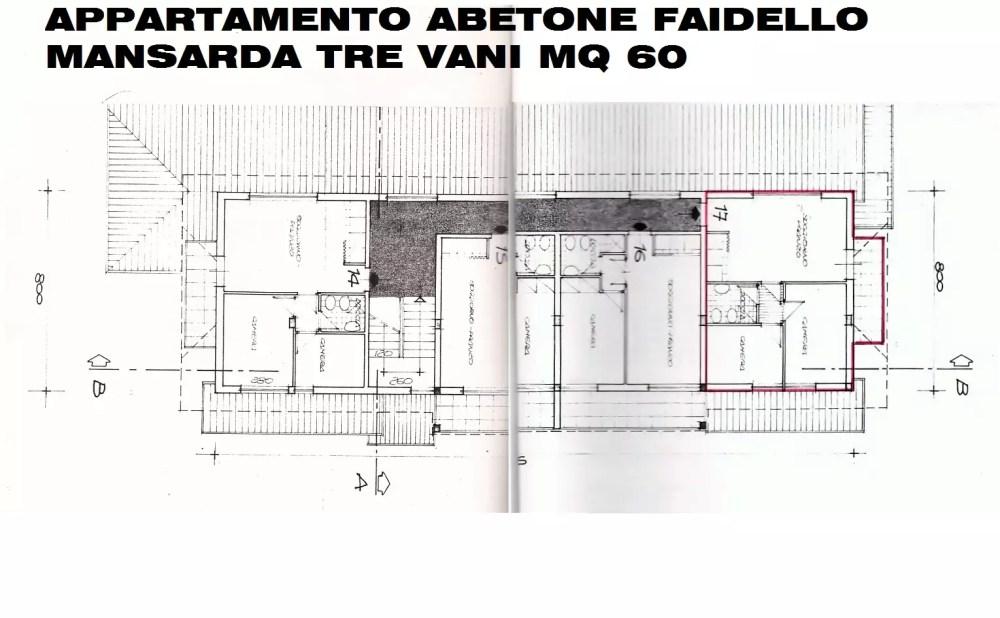 Appartamento Abetone Faidello Mansarda Tre Vani Mq 60