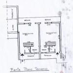 Appartamento Terra tetto Pianosinatico Quattro Vani Mq 80