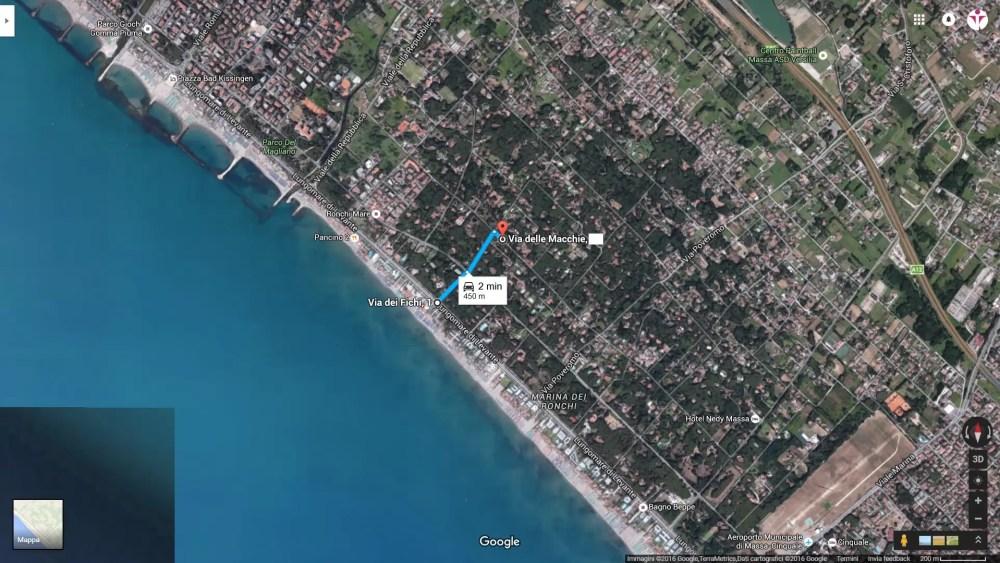 Mappa Villa Viale Lungomare di Levante