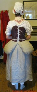 Reproduction of late 18th century bum pads.