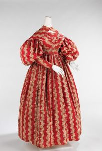 Dress 1832, American, made of cotton at Met Museum