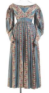 Circa 1836 cotton dress, England. Via National Gallery of Victoria, Melbourne.