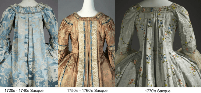 Saques were pretty much out of style by the 1780's but were still worn for court functions.