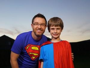 filmmaker Brett Culp with superkid