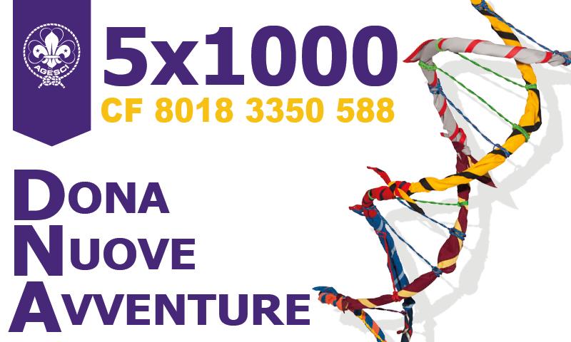 Dona nuove avventure – Campagna 5×1000 Agesci