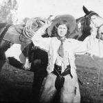 Mrs. Pedreira as a young teen with her horse.