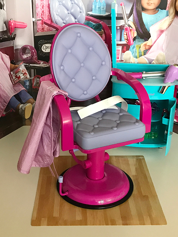 doll salon chair leather dining room chairs a day at the hair with american girl dolls fan ag truly me