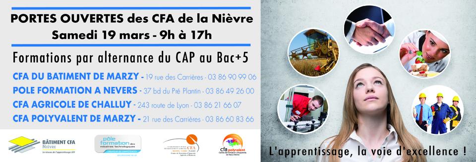 Les CFA ouvrent leurs portes le 19 mars !