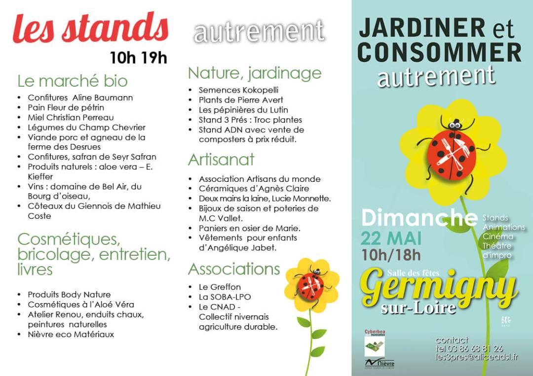 Les stand présnets lors de la journée à Germigny sur Loire