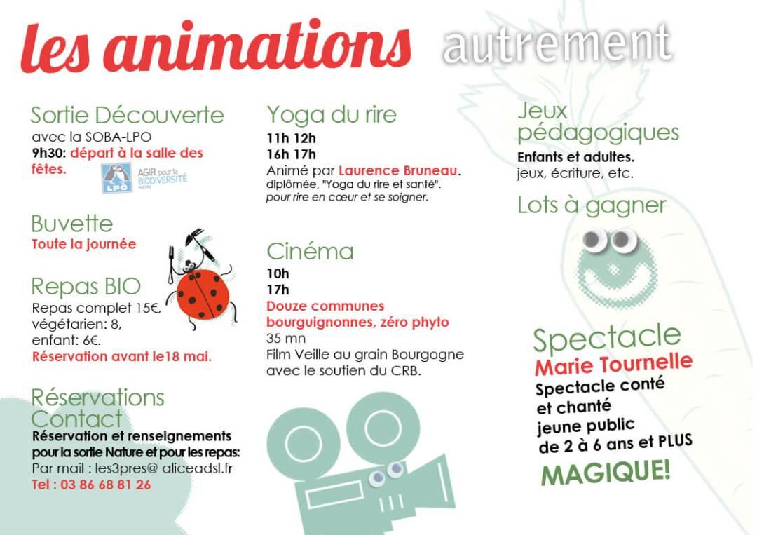 Les animations prévues le 22 mai à Germigny