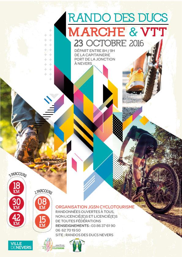 rando des ducs 2016 : parcours marche et VTT