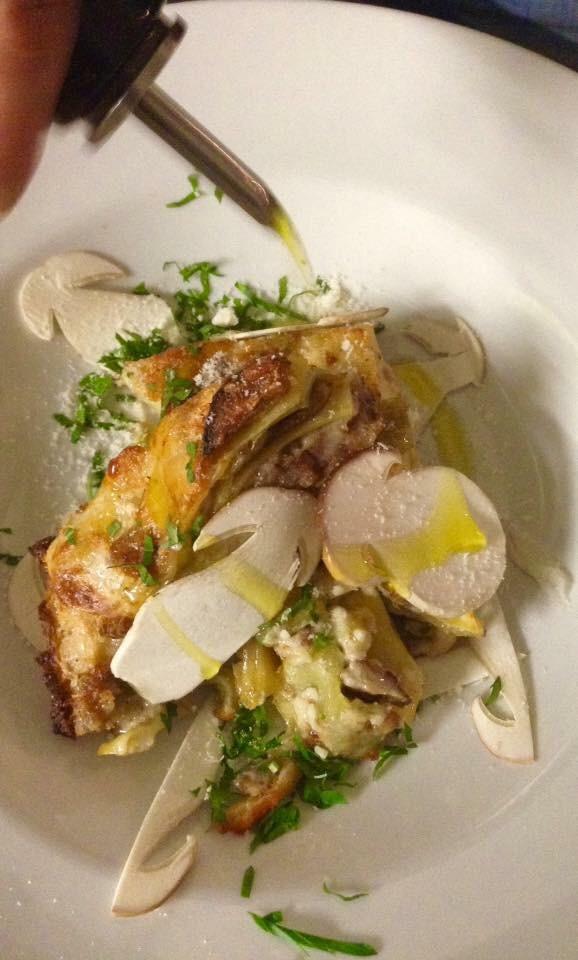 Lasagne alla salsiccia e porcini