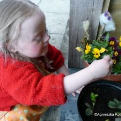 Magdalena arranging peg faeries