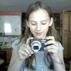 Agi K with her new camera for her 1oth birthday 2012