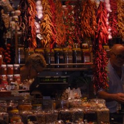 The markets were so vibrant and colourful in Barcelona