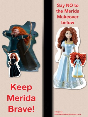 Agi K poster for Keep Merida brave campaign