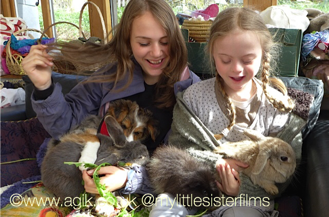 Agi K and Magdalena with pets