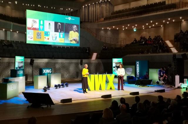 Die Jobsharer Christiane Hassis und Angelika Nelissen von Unilever präsentieren auf der NWX wie gut Jobsharing funktionieren kann
