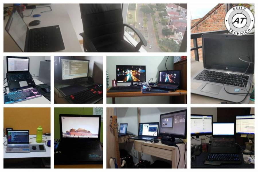 working from home pictures