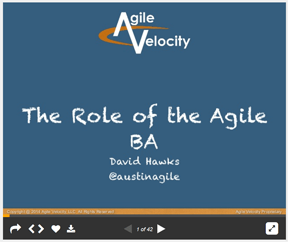 Role of the Agile Busines Analyst IIBA Presentation