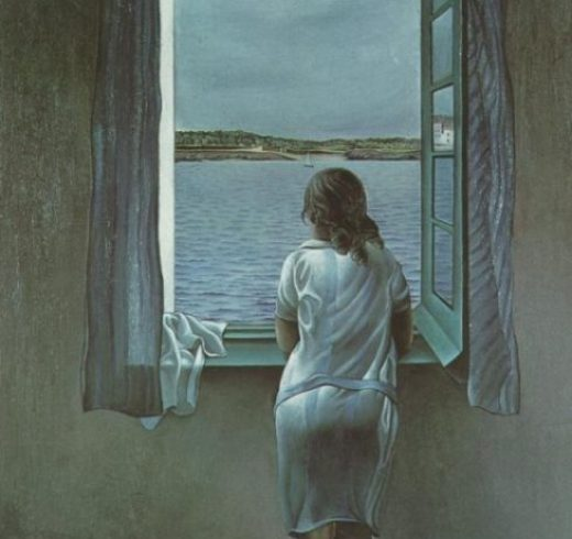 Salvador Dali Figure at the Window