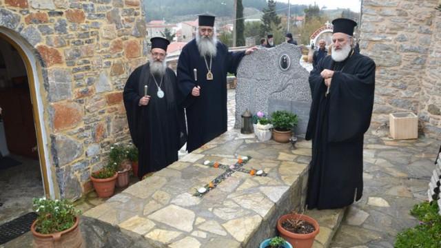 Τρισάγιο στον τάφο του Γέροντος Ευμενίου και το δώρο του οσίου Νικηφόρου του Λεπρού