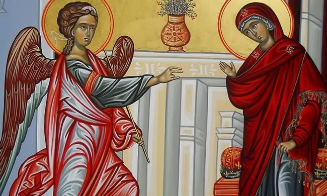 Ομιλία εις τον Ευαγγελισμόν της Θεοτόκου του Αγίου Ιωάννου του Χρυσοστόμου