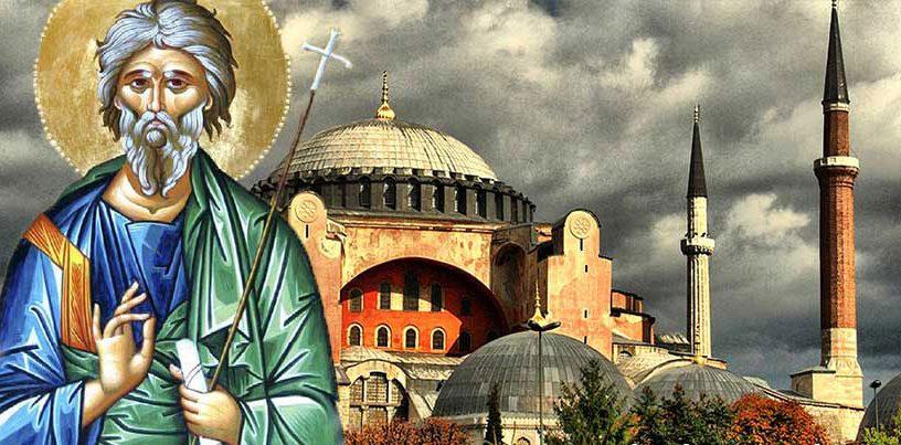 Άγιος Ανδρέας ο διά Χριστόν σαλός: Οι προφητείες για αντίχριστο, βδελυρά έθνη, Αγιά Σοφιά
