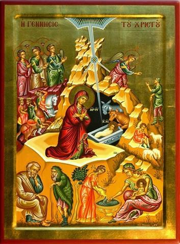 Ερμηνεία της εικόνας της Γέννησης του Κυρίου