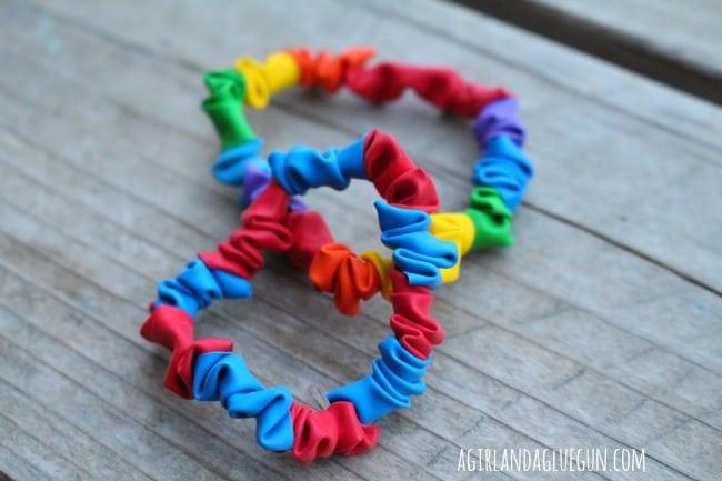 balloon bracelets close up.