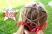 fourth of july star hair - girl