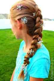 frozen snowflakes hair clips