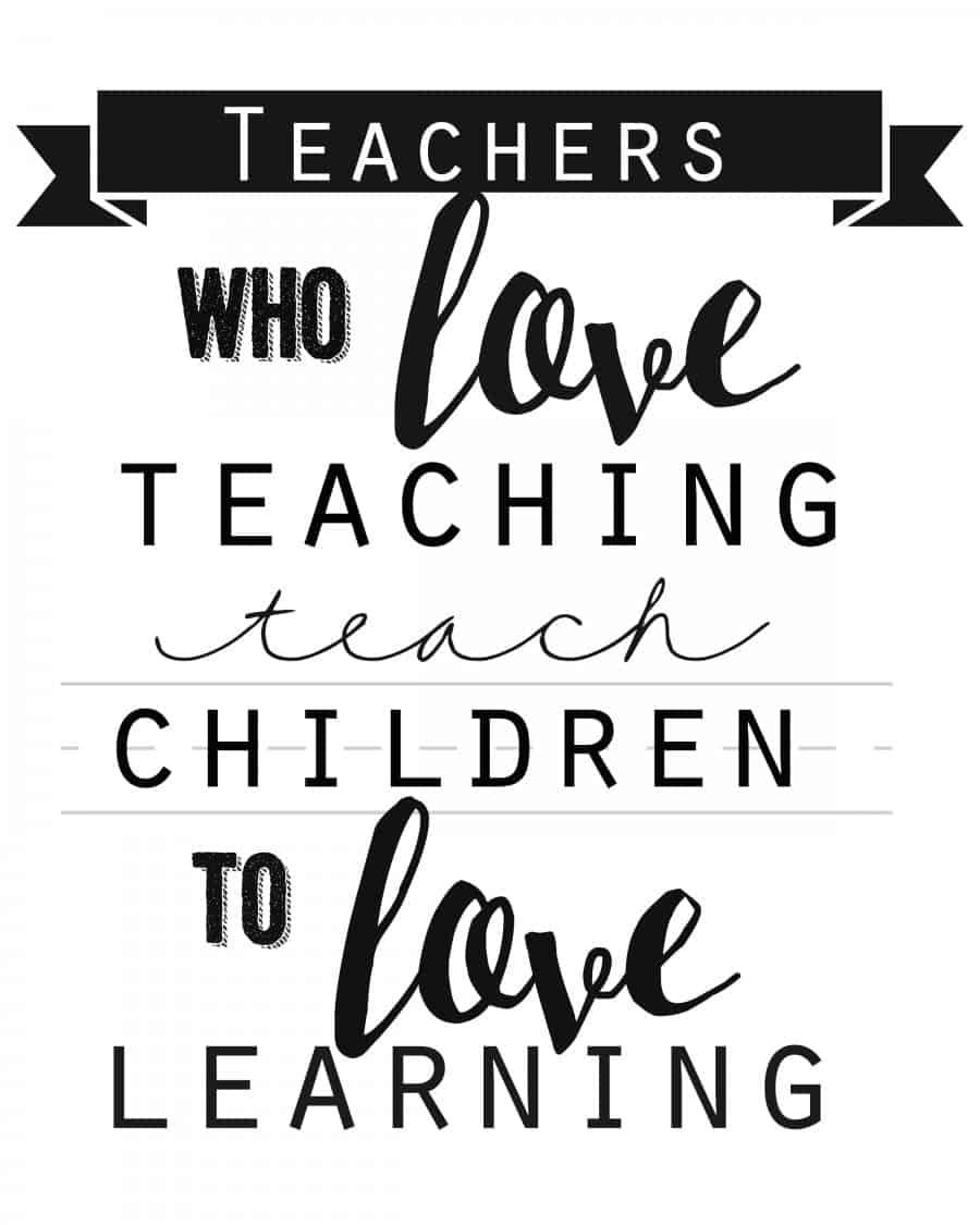 Printable Teacher Appreciation Quotes. QuotesGram