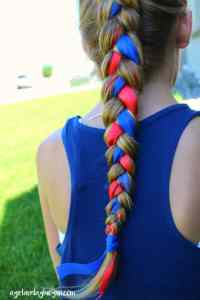 Fourth of July hair! - A girl and a glue gun