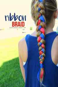 how to braid ribbon for a hair sculpture fourth of july ...