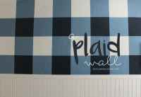 the plaid wall. with paint. and lots of tape. - A girl and ...
