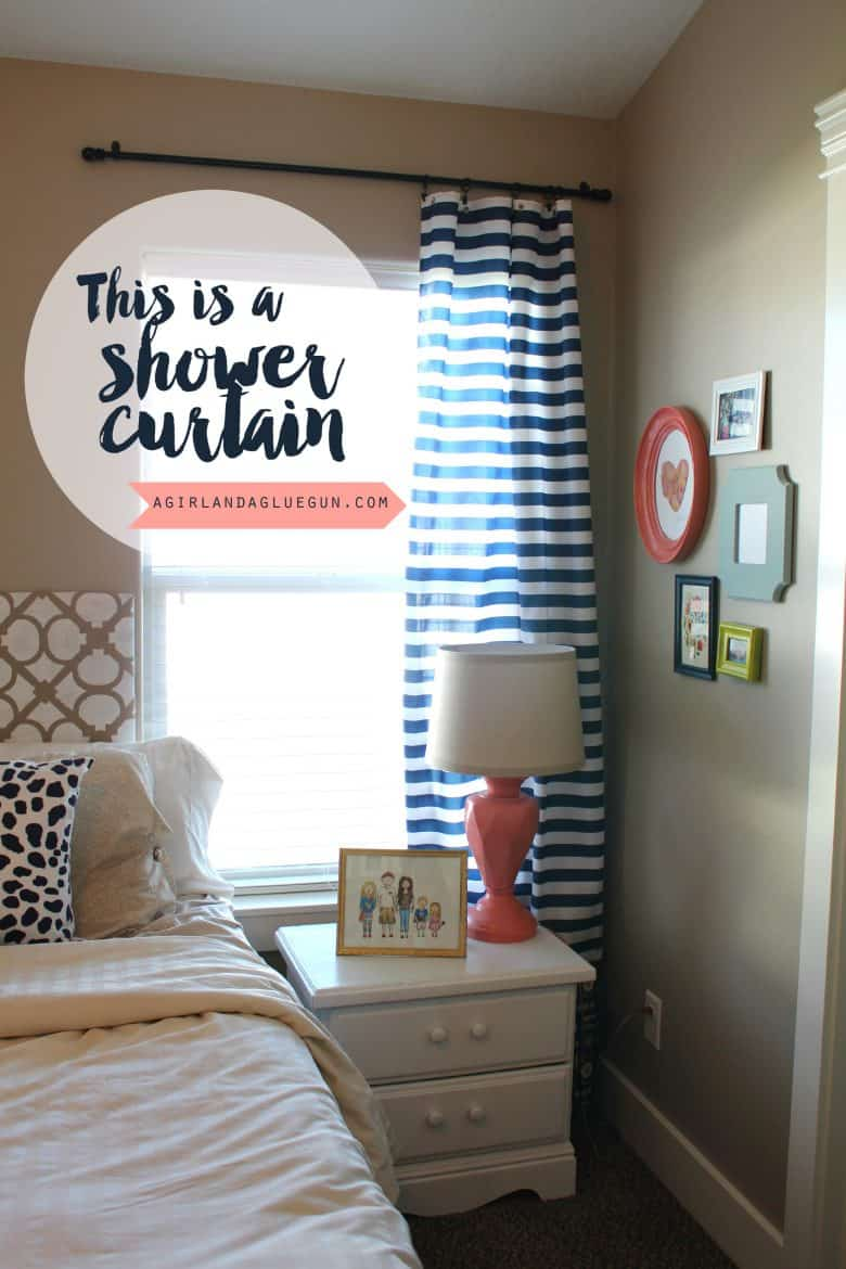 shower curtain to regular curtains a