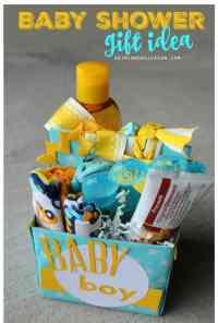 Baby shower gift idea - A girl and a glue gun